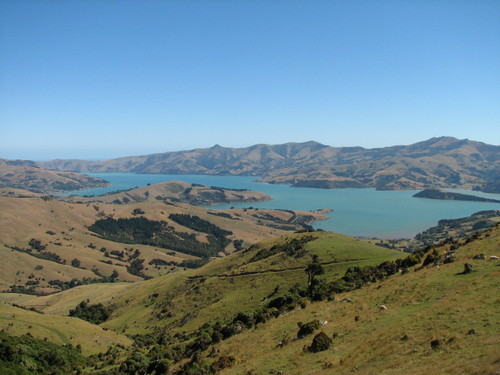 View from Summit Road on the Banks Peninsula